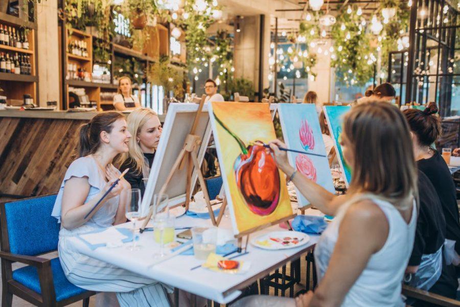 Zážitkový večer malování ve Spojce